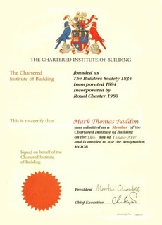 CIOB Certificate